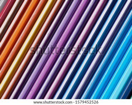 Colored pencils of various colors, Color background and texture #1579452526