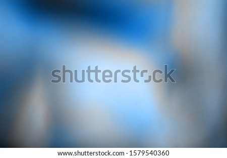 Blurry abstract iridescent holographic neon blue trendy background. 2020 trendy color #1579540360