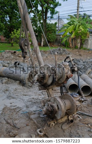 Concrete piling, Piling (Civil engineering),Ahchor pile  #1579887223