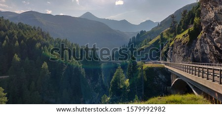Grisons, Switzerland, beautiful location in Switzerland. Perfect shot with rainbow. #1579992982