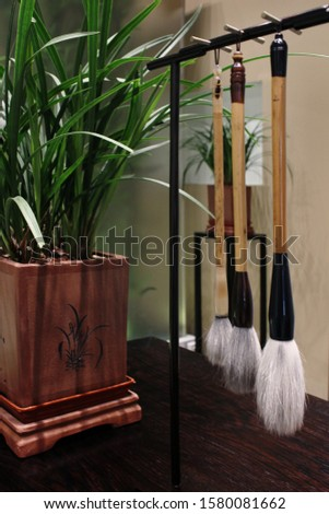 Brushes for calligraphy. Brushes for traditional Chinese painting #1580081662