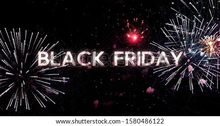 Black Friday sale. Video sequences with firework in the background Black Friday sale promotion video #1580486122