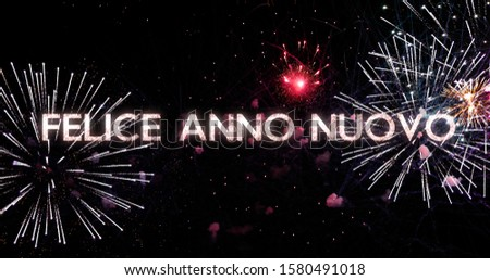 fireworks display in 4K. New Year celebration colorful firework. Concept of the new year in Spanish #1580491018