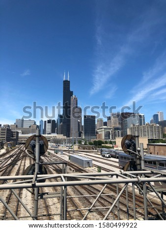 Beautiful Picture of the Chicago skyline on a clear day.