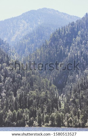 Altay Telezkoye lake beautiful mountains, green trees, pines, breathtaking views, landscapes and panoramas Russia  #1580513527