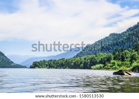Altay Telezkoye lake beautiful mountains, green trees, pines, breathtaking views, landscapes and panoramas Russia  #1580513530