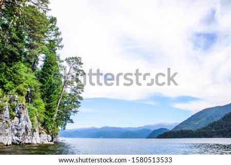 Altay Telezkoye lake beautiful mountains, green trees, pines, breathtaking views, landscapes and panoramas Russia  #1580513533