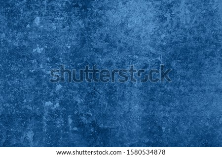 Wall with old cracked blue paint. Background #1580534878