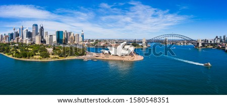 Aerial View of Sydney, Australia. Drone shot. Panorama #1580548351