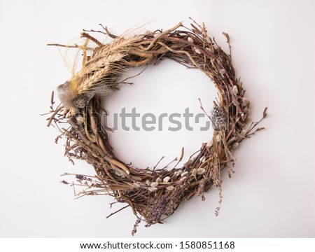 Easter wreath wreath on a white background #1580851168