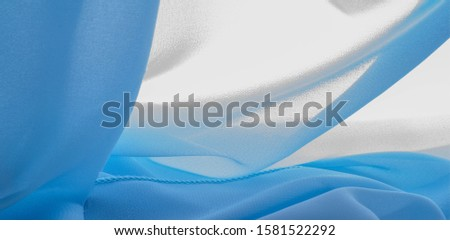 texture background pattern. blue silk fabric This is a light artificial silk fabric of dupioni with a subtle matte sheen. It is perfect for your design, accents, wallpapers, posters and cards. #1581522292