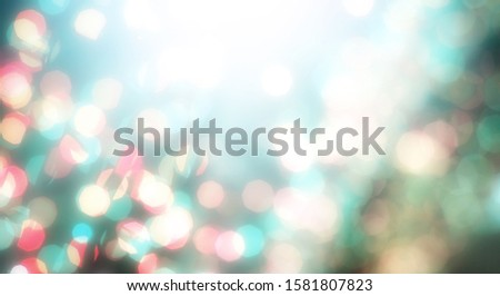 Blurred backdrop, blurred background, circle blur, bokeh blur from the light shining through as a backdrop and beautiful computer screen images. #1581807823