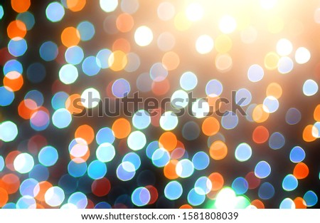 Blurred backdrop, blurred background, circle blur, bokeh blur from the light shining through as a backdrop and beautiful computer screen images. #1581808039