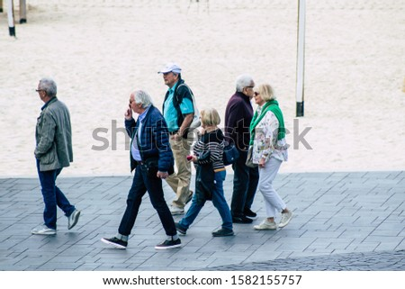 Tel Aviv Israel December 07, 2019 View of unknown people walking in the streets of Tel Aviv in the afternoon #1582155757