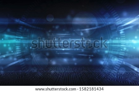 Binary Code Background, Digital Abstract technology background, flowing number one and zero text in binary code format in technology background. Digital Abstract technology background, futuristic back #1582181434