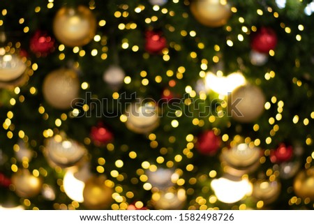 blurred bokeh decorated christmas tree on background. blurred bokeh background. blurred bokeh merry christmas and New Year holidays background #1582498726