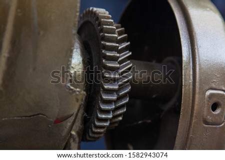 Mechanical steel parts close up. #1582943074