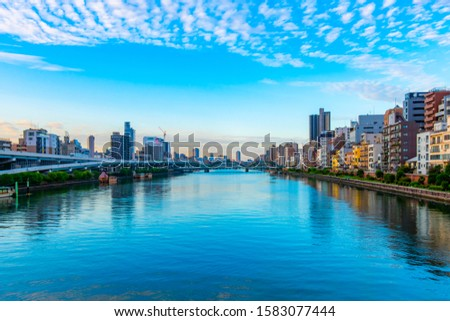 Scenery of the Sumida River in Tokyo, Japan #1583077444