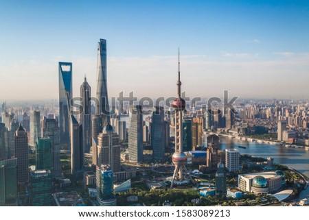 Pudong financial district building complex #1583089213