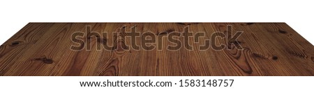 wooden tabletop or shelf isolated on white #1583148757