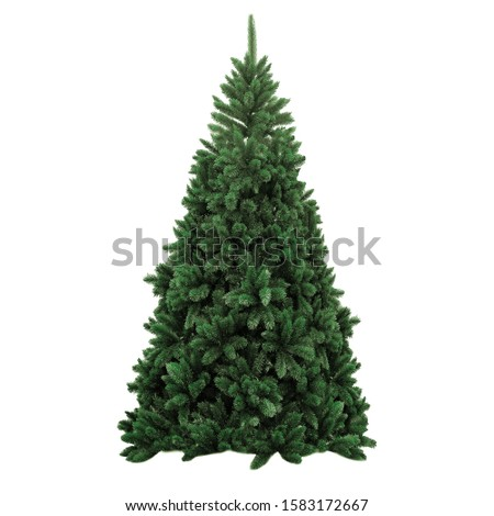 Christmas tree on a white background without decorations #1583172667