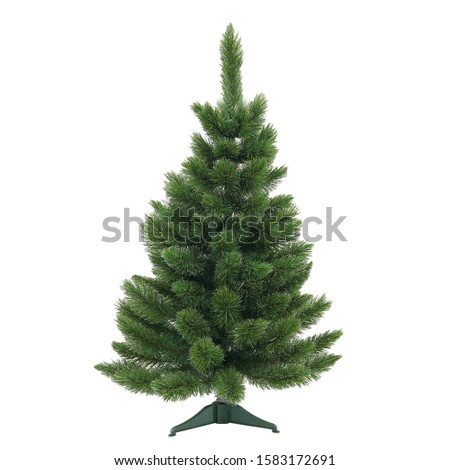 Christmas tree on a white background without decorations #1583172691