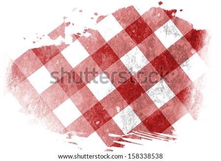 red picnic cloth with some squares in it #158338538