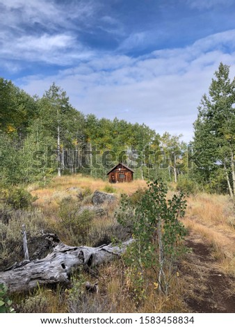 old cabin in the backcountry #1583458834