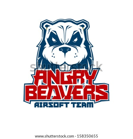 Angry Beavers Vector Illustration