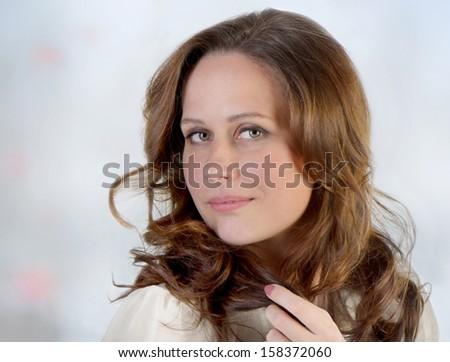 Portrait of beautiful smiling woman  #158372060
