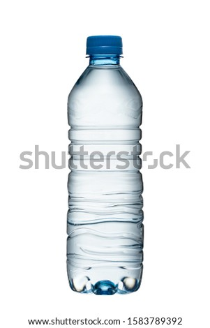 Plastic bottle with water on a white background #1583789392