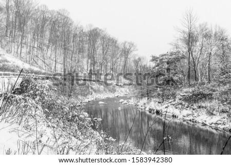 A snowy, winter scene in Toronto, Ontario #1583942380