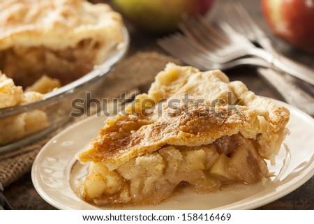 Homemade Organic Apple Pie Dessert Ready to Eat #158416469