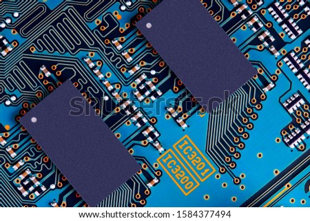Electronic circuit board close up. #1584377494