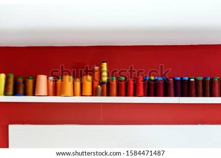 set of thread spools for machine sewing  #1584471487