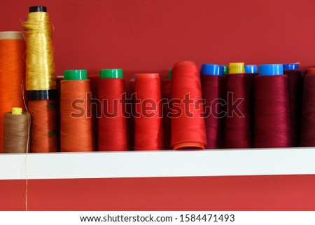 set of thread spools for machine sewing  #1584471493