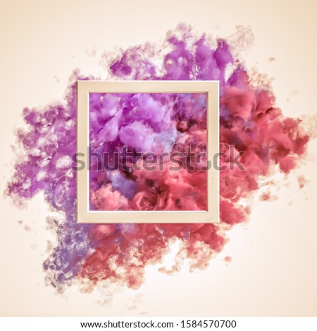 Beautiful background with purple smoke and steam. 3d illustration, 3d rendering. #1584570700