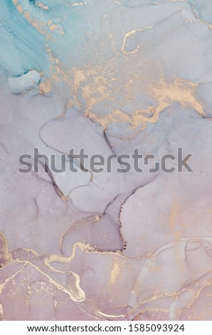 Alcohol ink colors translucent. Abstract multicolored marble texture background. Design wrapping paper, wallpaper. Mixing acrylic paints. Modern fluid art.  #1585093924