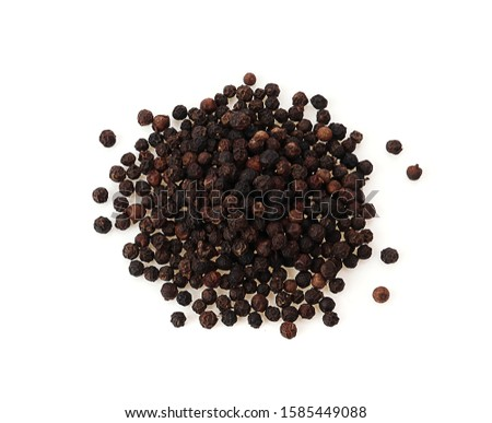 Black pepper isolated on a white background #1585449088
