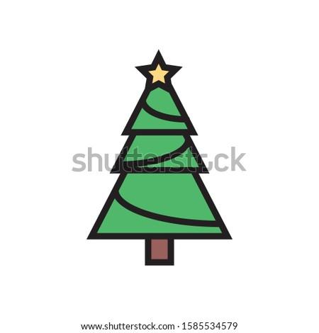 illustration of a christmas tree #1585534579