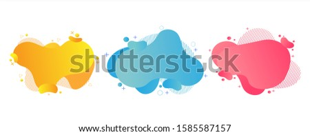 Set of abstract modern graphic elements and liquid shapes banner #1585587157