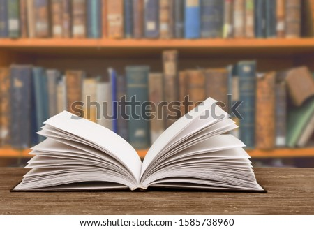 Books collection on dark background with copy space #1585738960