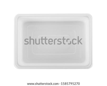 plastic empty bowl on white background #1585795270