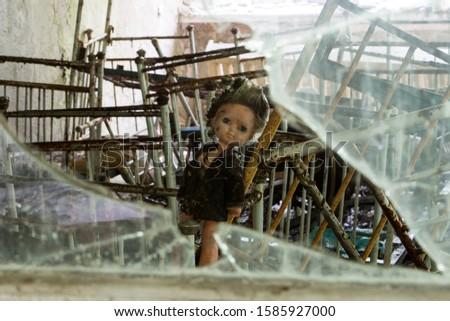 scary dolls in an abandoned kindergarten #1585927000
