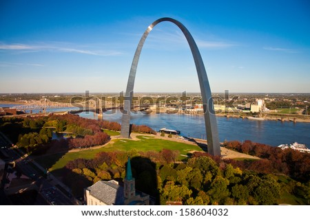 Image of the St. Louis Gateway Arch in St. Louis, MO.