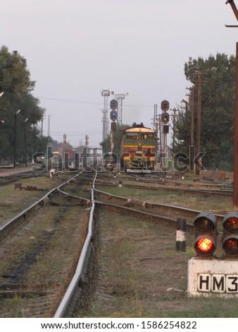 train railway carriage Railway railway rails simophore #1586254822