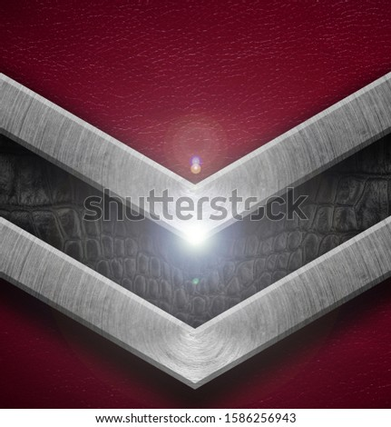 Texture metal and leather material template abstract background.Copy space for your text, menu cover, menu cover #1586256943