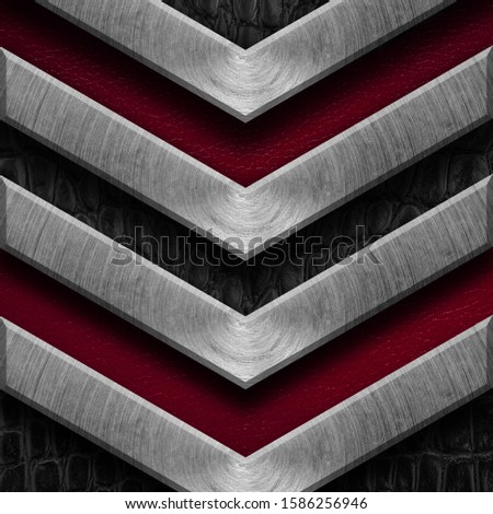 Texture metal and leather material template abstract background.Copy space for your text, menu cover, menu cover #1586256946