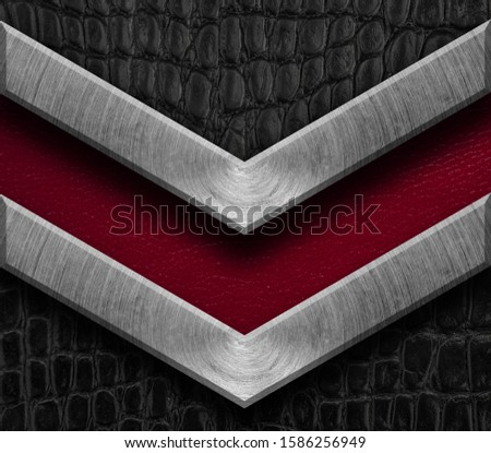 Texture metal and leather material template abstract background.Copy space for your text, menu cover, menu cover #1586256949