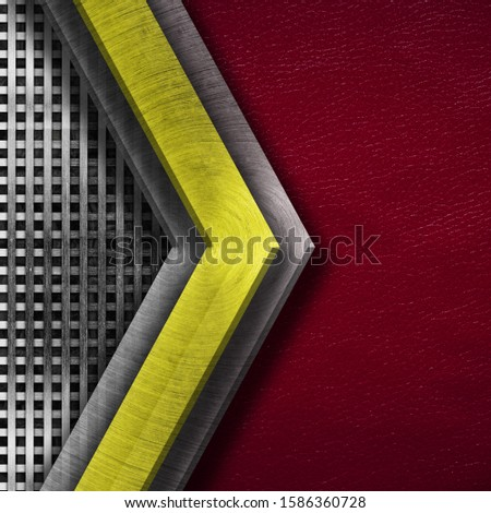 Texture metal and leather material template abstract background.Copy space for your text, menu cover, menu cover #1586360728